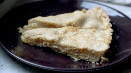 Birnen-Pie oder gedeckte Birnen-Tarte